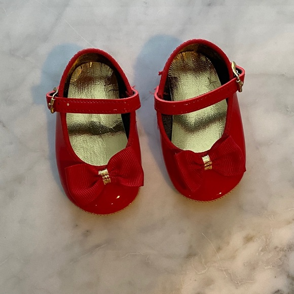 New Infant Red Patent Leather Mary Jane